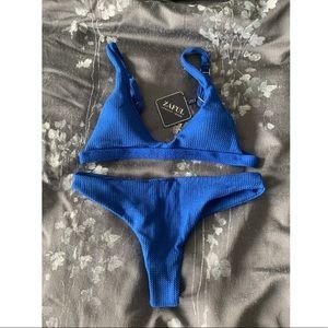 Zaful Royal Blue Scoop Bikini